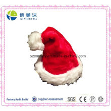 High Quality Handmade Soft Plush Traditional Christmas Santa Cap