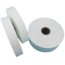 NX228 Hot Sale  White Flat Single Sided Pearl Coated Polyester Taffeta Ribbon