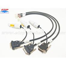 Arnés de cableado industrial con conectores de cable NAC3FCB