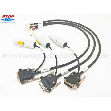 Wiring Harness Industri dengan NAC3FCB Cable Connectors