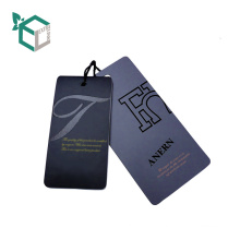 EXW price printing Kraft paper hang tag for cloth
