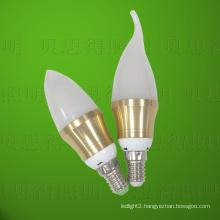 Die-Casting Aluminum 4W Golden Bentend LED Bulb Light