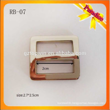 RB07 Fashion rectangle metal slider buckle silver zinc alloy adjustable blet buckle for strap bag