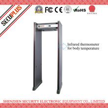 Waterproof 4LED light bar walk through metal detector for check body temperature