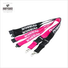 10PCS / Pack Stock Farben ID Card Neck Strap Lanyard mit schwarzem Kunststoff Verschluss