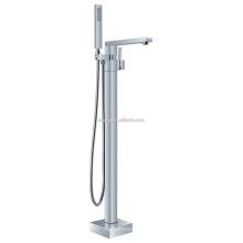 KFT-07 en gros avec tuyau de douche mitigeur salle de douche accessoire solide cuivre filigrane étage debout baignoire mélangeur