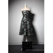 LSQ049 A-line strapless natural waist short abendkleider muslim long dress prom dresses