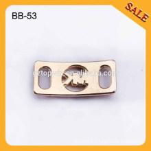 BB53 Décorations de chaussures de mode Vente en gros Custom Chaussures en métal