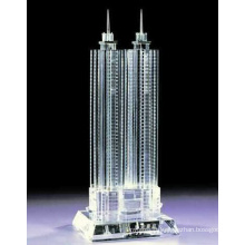 Fashion City Landmarks Crystal Glass Building Mold for Show Room Ornament