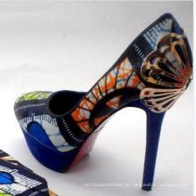 Afrikanische bedruckte Stoffe High Heel Damen Stiletto (hcy02-1356)