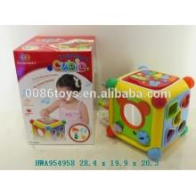 Juguete educativo del bebé Juguete cúbico de los niños de la función completa