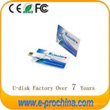 Memoria USB caliente de la tarjeta de crédito de la venta Unidad USB Flash Pen Drive para muestra gratis