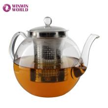 Wholesale Custom Pyrex Glass Tea pot With Strainer