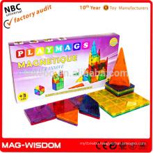 Playmags 2016 Magnetic Building Tile Blocks NON Toxic Plastic Educational Toys 20pcs Set