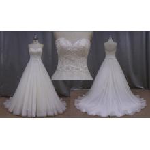 A-линия платья белое свадебное Сделано в Китае