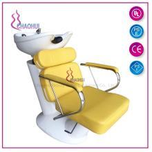 Cadeira de shampoo e tigela de cerâmica