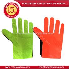 Roten & gelbe Verkehr reflektierenden Handschuh für Polizei