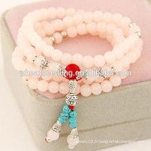 Vente en gros 2014 bracelet à perles populaires