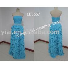 2011 nuevo vestido de noche del grano del leopardo del diseño ED5657