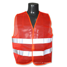 Ansi / isea laranja malha alta visibilidade colete refletivo de segurança (yky2826)