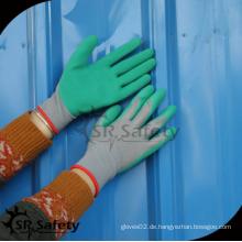 SRSAFETY preiswerter Preis / 13G Strickjacke grüner Knall Latex Handschuhe / Hand Handschuhe