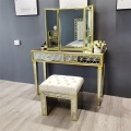 Tabouret miroir antique or antique