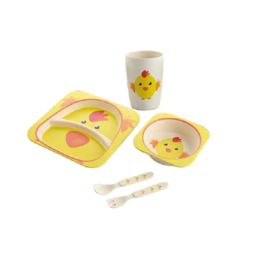 Eco Friendly Bamboo Fiber Children Tableware