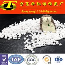 Bola de óxido de alumínio ativado branco para meios de moagem