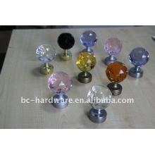 60mm кристаллический занавес finial, круглый кристаллический занавес штанги finial