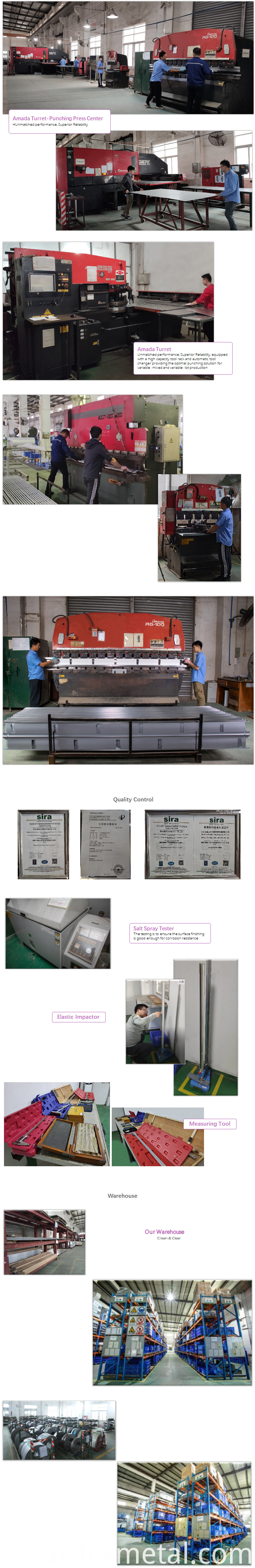 Sheet metal cabinets for place servers