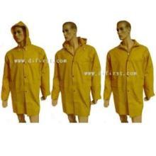 Пальто дождя с покрытием из ПВХ
