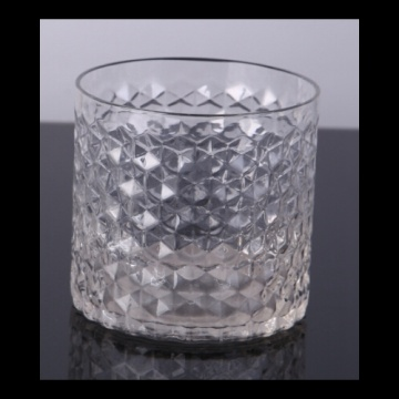 Coupe de bougie en verre en relief, diamant