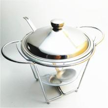 Calentador caliente de la comida del cuenco de sopa del estante 4Liter del hierro de la venta para abastecer