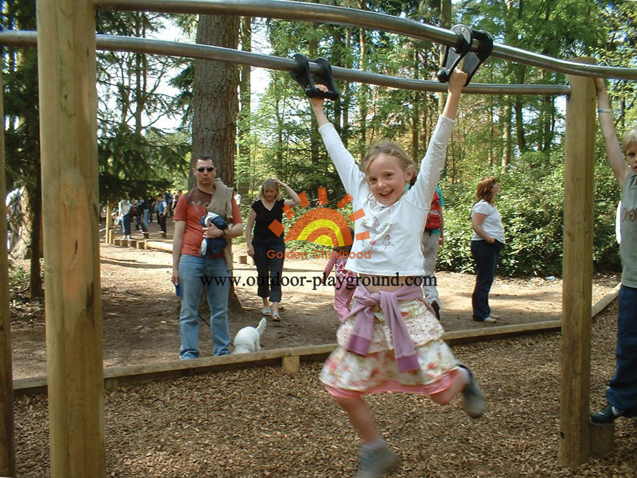 Parallel Bars Balance On Park