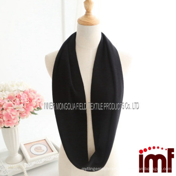Warm Black 100% Cashmere Infinity Loop Scarf