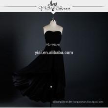 RSE622 Black Short Front Long Back Prom Dress Formal Dress Patterns Casual