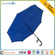 Hot vente coupe-vent pratique double couche inversé parapluie inversé