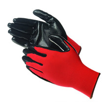 Firm Grip Polyester Liner Nitrile Coated Gloves