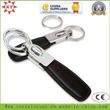Porte-clés en métal et en cuir Cutom