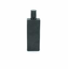 custom design screen printing 50ml empty glass matte black perfume bottle