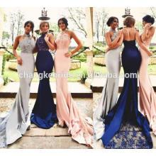 Personalizado por el diseño Halter Neck Mermaid Long Sexy Prom Dress 2016