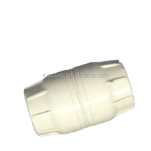 Plastic body straight male cord coupler push-fit connector