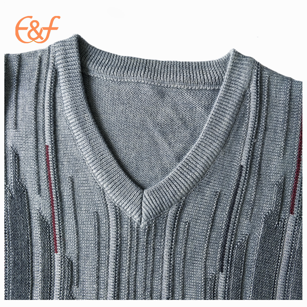 Knitted men's fancy sweater