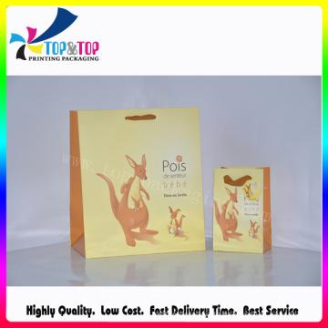 Gelb Flexible Geschenkpapier Tasche / Cartoon Design Einkaufstasche