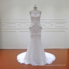 HD019 luxurious and fashionable two pieces fish cut lace bridal gowns