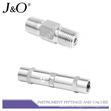 Válvula de retenção de instrumento de união fêmea de fluxo de gás de válvula de retenção
