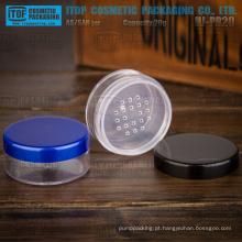 Camada única de 20g de HJ-PR20 linda e clássica 20g limpar frasco cosmético em pó plástico redondo