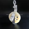 Einzelne Riemenscheibe mit Zughaken aus Nylon