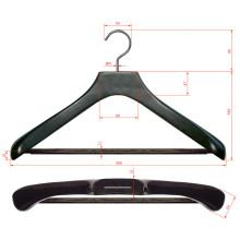 High Quality Luxury Wooden Suit Hanger with Grip Wood Bar and Turnable Hook