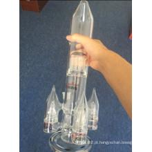 Enjoylife mais vendidos foguete forma de vidro grande tubulação de água cachimbo de cigarro Perc Percolator multi pipa de fumar por atacado